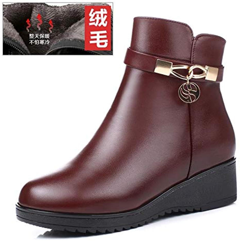 JYSSYLZH Stivali Stivali Stivali da Neve 2018 Winter Leather Pure Large Dimensione Stivali da Donna con Scarpe da Donna con Scarpe Madre... | Molte varietà  | Uomini/Donne Scarpa  e8b780