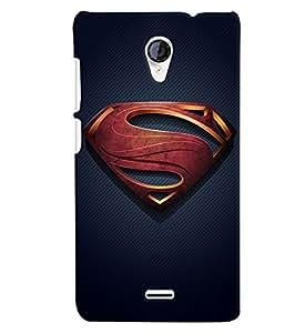 Citydreamz Superman Logo Hard Polycarbonate Designer Back Case Cover For Micromax Canvas Spark Q380