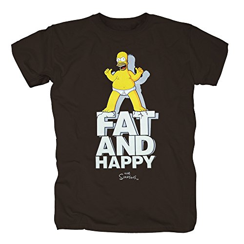 TSP Simpsons - Fat and Happy T-Shirt Herren S Braun