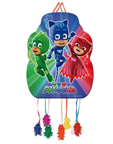 ALMACENESADAN 0848, Piñata Perfil PJ Masks,, Fiestas y cumpleaños, Dimensiones: 33x46 cms