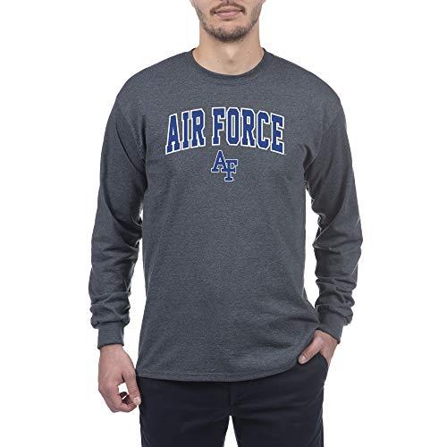 eLITe NCAA Herren Langarmshirt Air Force Falcons, Dunkelgrau, Anthrazit, Größe M -