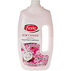 Fem Soft Handz Handwash (Saffron & Blossom with Coconut Milk) - Gentle Dry Skin Soap - 900ml