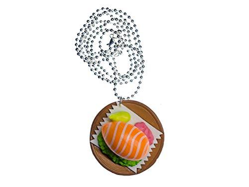 Miniblings Sushiteller Kette Halskette Japan Spezialität Sushi braun rund 80cm
