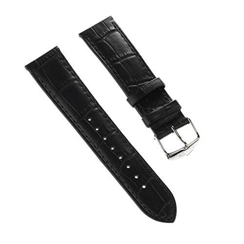 Lotus Bracelet de Montre élégant Bracelet de matière Cuir Noir pour Lotus L15956, l15961, l15955Montres