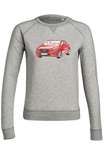 ul15 Sweat pour femmes Trips Mazda in Red Heather Grey