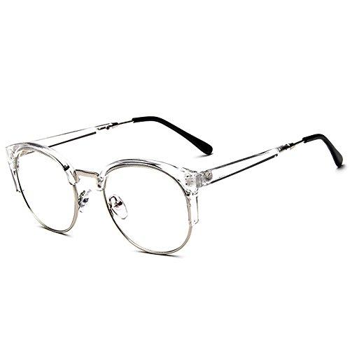 54c023427f Forepin® Unisex Montura de Gafas Vintage para Hombre y Mujer Retro  Transparente con 1/