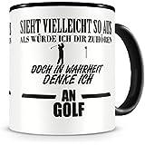 Ich denke an Golf Tasse Kaffeetasse Teetasse Kaffeepott Kaffeebecher Becher