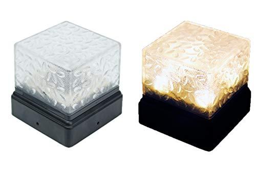Arnusa LED Solarleuchte für Zaunpfosten 9x9cm Solarlampe Pollerleuchte Zaunleuchte