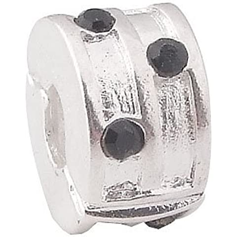 Andante-Stones Perlina Bead Clip Stopper in argento
