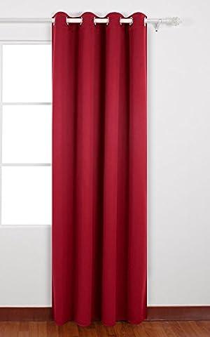 Deconovo Blickdicht Vorhang mit Ösen Verdunkelungsvorhang Ösenvorhang Blickdicht 175x140 cm