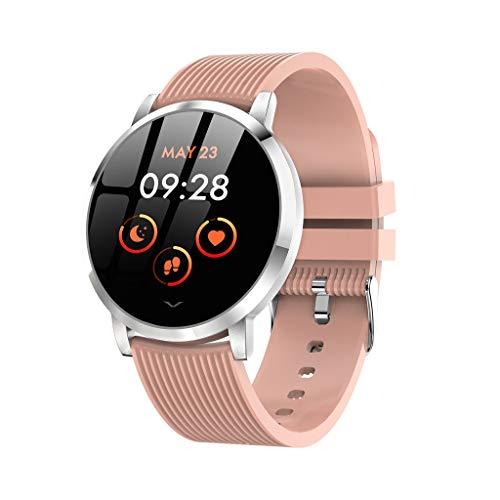 htfrgeds Smartwatch, Bluetooth Smart Watch Fitness Tracker Armband Sport Uhr Pulsuhren Schrittzähler mit IP67 Wasserdicht Schwimmen Blutdruckmessung Blutsauerstoff für iOS Android (Pulver)