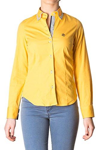 di-prego-chemise-jaune-manches-longues-col-welt-avec-rayures-blanches-et-bleus-marines-poignets-reve