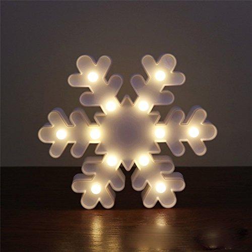 D Nachtlicht, niedlichen LED-Lampen an Wand, Raum dekoratives Licht, Tisch Lampe Stimmung Beleuchtung Lampe Kinder Zimmer Weihnachten Deko (Schneeflocke) (Weihnachten Schneeflocke)