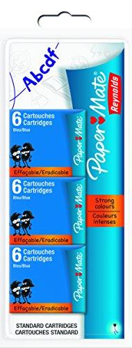 paper-mate-s0671331-reynolds-corta-cartuchos-lote-de-18-paquetes-color-azul