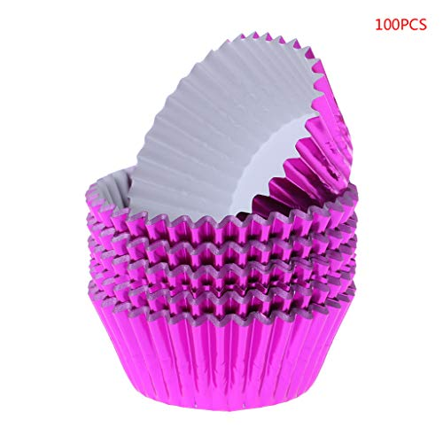 Qiman 100 Stücke Papier Cupcake Cup Aluminiumfolie Muffin Backbecher Liners Cupcakes Fall (Cupcake-fällen Star Wars)