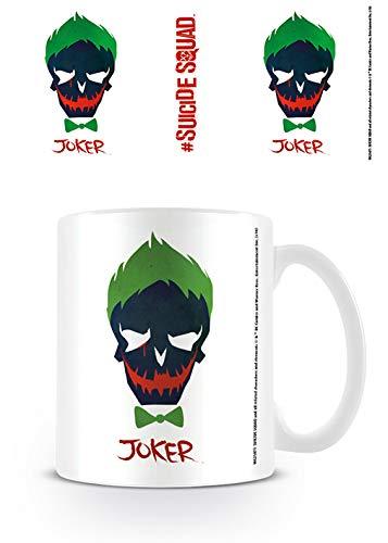 DC Comics Suicide Squad Joker cráneo Taza café Oficial de la película Jared Leto