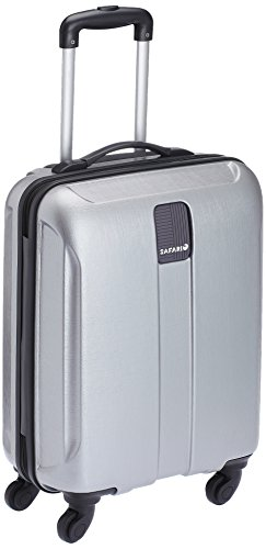 Safari Thorium Polycarbonate 55 cms Silver Hardsided Carry On (Thorium-Stubble-Silver-55-4WH)