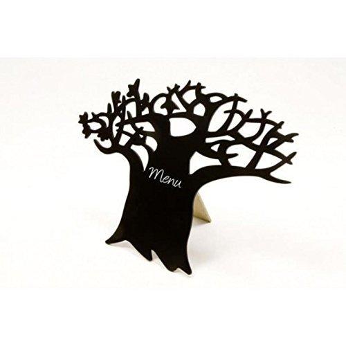 Blanko Présentoir de Table en Bois avec Support en Bois pour nom et Tableau de Correspondance Motif Arbre de Table 18 x 25 cm