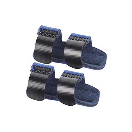 Mallet-fingerschiene (SUPVOX 1 Paar Fingerschiene Unterstützung Trigger Mallet Finger Brace Sehne Schmerzen lindern (Blau))
