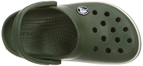 Crocs Crocband Clog K For/Stu, Sabots Mixte Enfant Vert (Forest/Stucco)