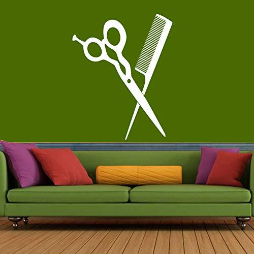 Forbici parrucchiere salon sticker parrucchiere sticker parrucchiere poster vinile wall sticker color select parrucchiere sticke40 * 43cm