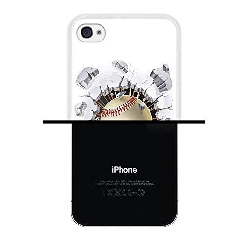 iPhone 4 iPhone 4S Hülle, WoowCase Handyhülle Silikon für [ iPhone 4 iPhone 4S ] Basketball Handytasche Handy Cover Case Schutzhülle Flexible TPU - Transparent Housse Gel iPhone 4 iPhone 4S Transparent D0052