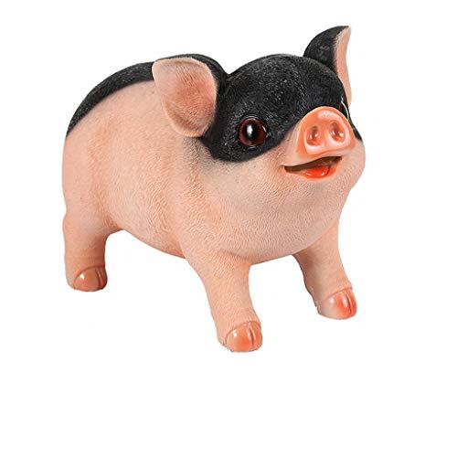 Haushalt Wohnen Sparbüchsen Kreative Harz Sparschwein Münze Bank Schwein Spardose Familie Dekor Geschenk für Kinder Spardosen Wohnaccessoires Deko Sparbüchsen (Color : E) 8520 Lcd