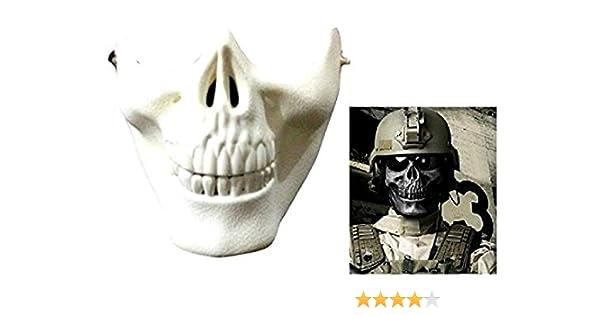 Halloween Idea Regalo per Natale e Compleanno Maschera Militare Argento Scheletro Travestimenti Army CS Carnevale Counter Strike