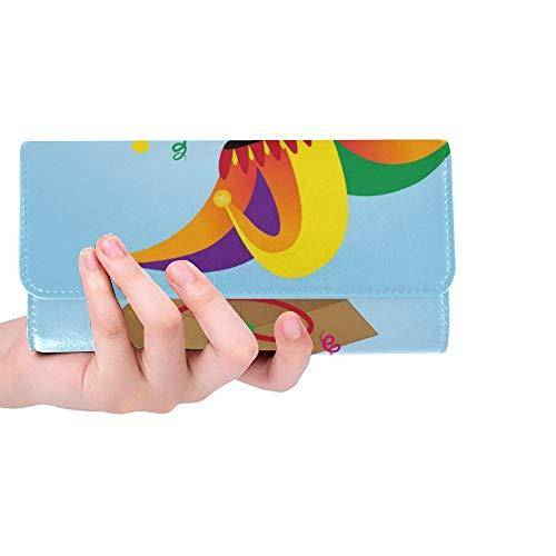 rdefinierte Aprilscherze Tag Zeichen Jester Hut Frauen Trifold Brieftasche Lange Geldbörse Kreditkarteninhaber Fall Handtasche ()
