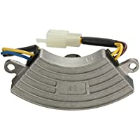Regulador de voltaje - TOOGOO(R) Regulador de voltaje gris 2 KW-3KW generador de gasolina automatico AVR carcasa de aluminio