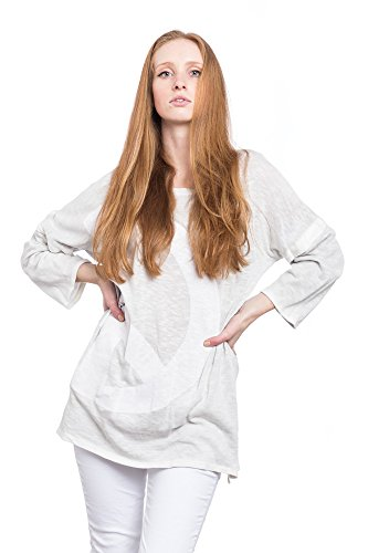 Abbino Damen Langer Shirt A085 - Made in Italy - Spitze & Festlich - 5 Farben Grau
