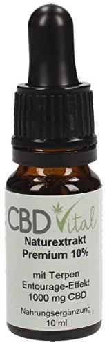 CBD Naturextrakt PREMIUM Öl 10% (0% THC) (10ml)