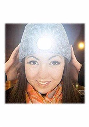 Preisvergleich Produktbild Beamie the Beanie Led Hat ~ Grey