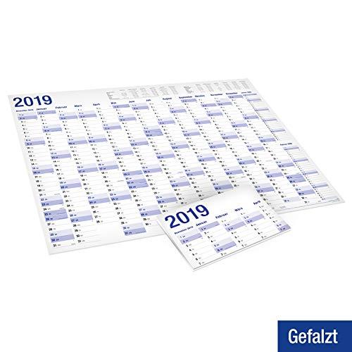 9 Wandkalender in Poster Größe. Gefaltet, gefalzt - Wandplaner, Jahreskalender, Groß: 70x100 cm. 1 Stück ()