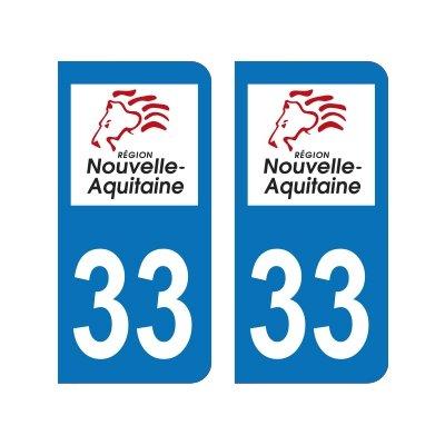 Armoiries 2 Blasonimmat plaque immatriculation33 Aquitaine