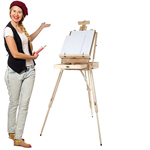 confronta il prezzo Artina Cavalletto tripode per pittura Madrid - da tavolo o da campagna - cassetta valigetta integrata - legno di pino miglior prezzo