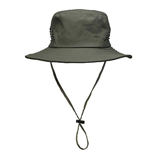 CHIC DIARY Frauen Damen outdoor Sommer Fischerhut Safari hut UV Schutz faltbar (Für Hüte Fedora Verkauf)