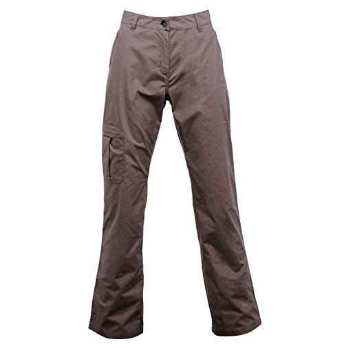 Regatta Womens Crossfell Multi Pocketed Trousers Brown Regular Leg