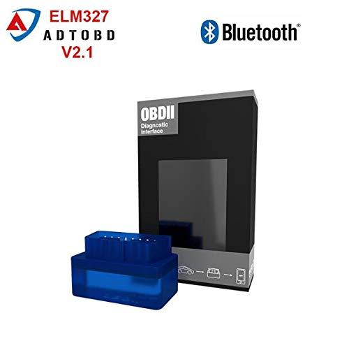 FIOLTY Mini ELM 327 V2.1 oder Elm327 Zahn v2.1-Schnittstelle funktioniert auf Android Drehmoment OBD2 / OBD IITool Auto Scanner Tool: V2.1