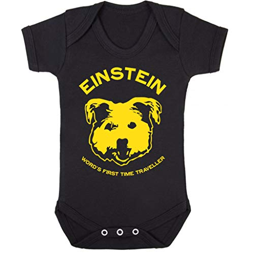 Einstein Time Traveller Back to The Future Baby Grow Short Sleeve (Time Traveller Kostüm)