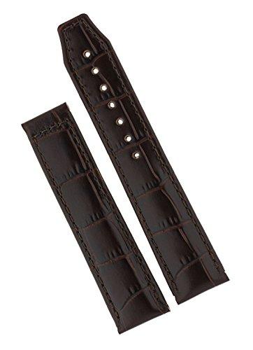 Maurice Lacroix Lederband braun 20mm/18mm für Dornfaltschließe