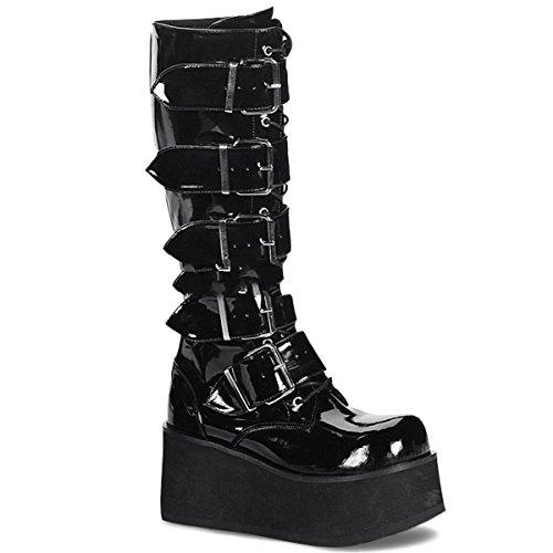 Demonia Trashville-518 - Gothic Punk Industrial Plateau Stiefel Schuhe 36-46, Größe:EU-45 (US-M12)