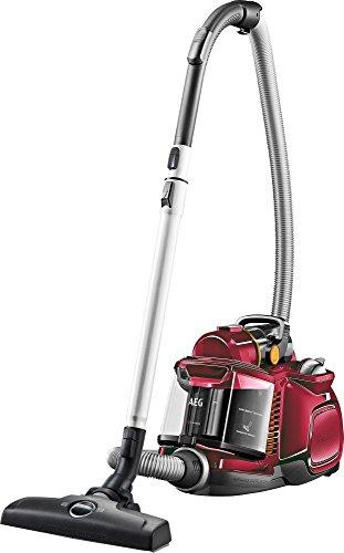 AEG LX7-2-FFPX Staubsauger ohne Beutel EEK A (750 Watt, inkl. Hartbodendüse, 9 m Aktionsradius, Softräder, 1,4 Liter Staubbehälter, waschbarer Hygiene Filter E12) rot [Energieklasse A]