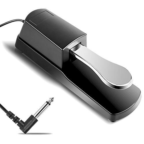 MVPOWER Universal Sustain Pedal Dämpferpedal Haltepedal mit Polaritätsschalter für Keyboard & Piano