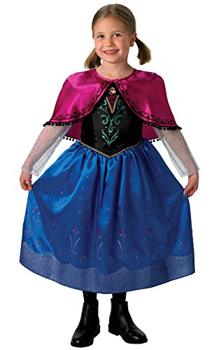 Childs Girls Kids Official Disney Frozen Princess Anna Fancy Dress Costume All Ages VEX 889545 (3-4 years) by Fancy Pants Party Store