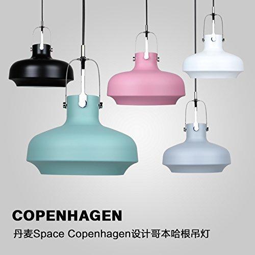 BESPD Nordic modernen minimalistischen Single-Head LED-Leuchten, die von der Decke hängen, Mittel 350 mm Weiß - Der 7-W-LED-Lichtquelle