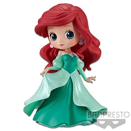 Figur Sammlung Ariel Kleine Meerjungfrau 14cm - Kleid Prinzessin Grüne Farbe Little Mermaid - Serie QPOSKET Banpresto Disney Characters Princess Dress - Version A