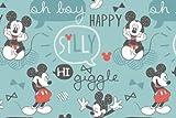 Visage Mickey Mouse mit–von 0,5m, 100% Baumwolle