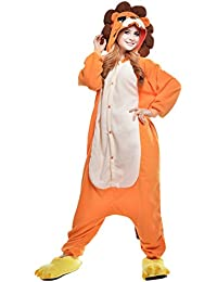 dressfan Unisex Adulto Animal Pijamas León Cosplay Traje Animal Disfraz León Pijamas ...