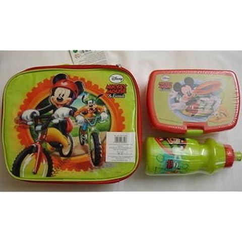 Disney Mickey Mouse Friends-& Lunchpack con la scatola porta pranzo e borraccia, Design ** - Mouse Pranzo